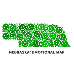 Happy nebraska state map composition of vector