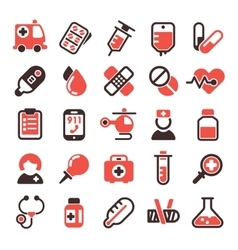 Health medical icons vector image