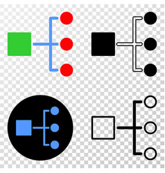 hierarchy eps icon with contour version vector image