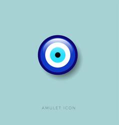 Icon amulet eye bead icon amulet protect vector