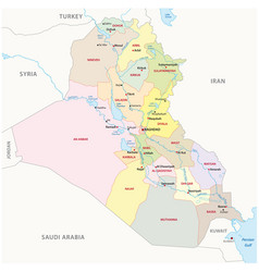 Iraq administrative divisions map vector