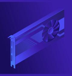 Isometric gpu mining concept vector
