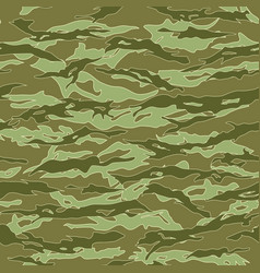 jungle tiger stripe camouflage seamless patterns vector image