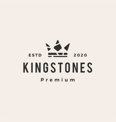 king stones hipster vintage logo icon vector image