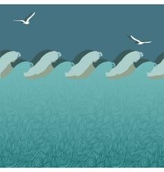 marine underwater background vector image