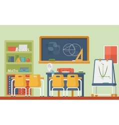 Mathematic geometry school classroom interior vector image