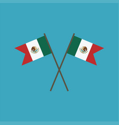 mexico flag icon in flat design vector image