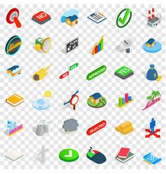 Nice emblem icons set isometric style vector