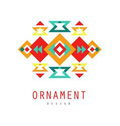 ornament logo design colorful ethnic ornate vector image