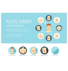 Plastic surgery web design concept for website and vector