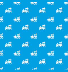 Railroad pattern seamless blue vector
