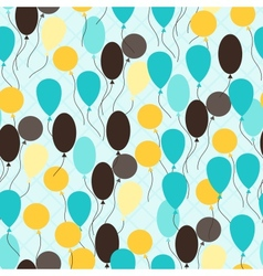 retro seamless pattern with balloons vector image