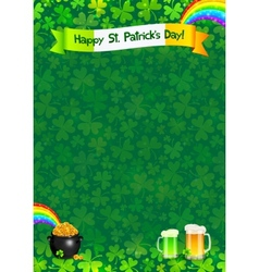 Saint Patricks day poster template vector image