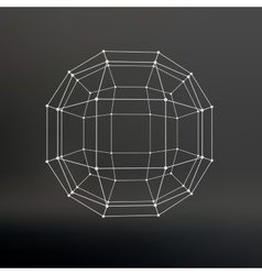 Scope of lines and dots Ball of the lines vector image