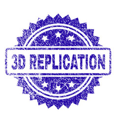 Scratched 3d replication stamp seal vector