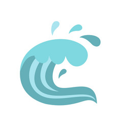 sea icon cartoon style vector image vector image