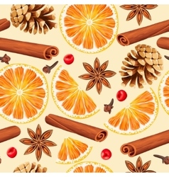 Seamless orange and spices vector