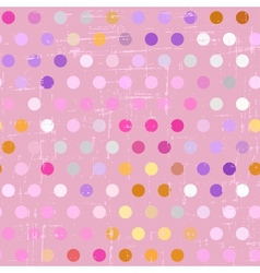 Seamless polka dot pattern on grunge background vector