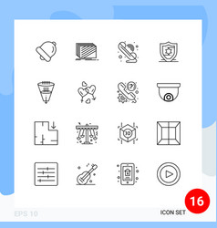 Set 16 commercial outlines pack for filtering vector