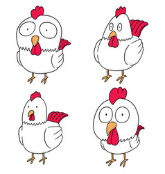 Set of chicken vector