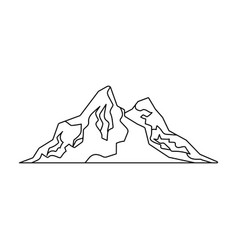 Sharp mountains on tops which snow vector