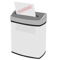 Shredder and text personal information vector
