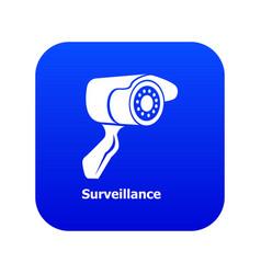surveillance icon blue vector image