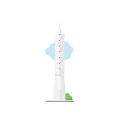 taipei skyscraper vector image