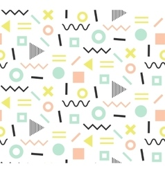 Trendy memphis cards Abstract seamless pattern vector