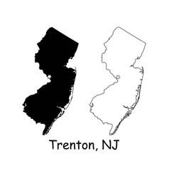 trenton new jersey nj state border usa map vector image
