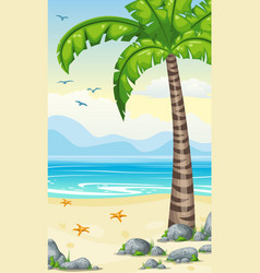 vertical cartoon tropical nature background for vector image