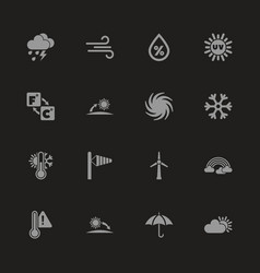 Weather - flat icons vector