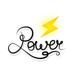 word power and lightning vector image