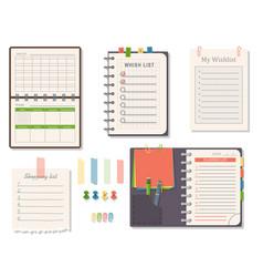 agenda list business paper clipboard in vector image vector image
