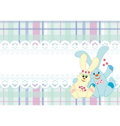 background with a couple of rabbits vector image vector image