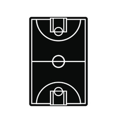 Basketball court field icon vector image