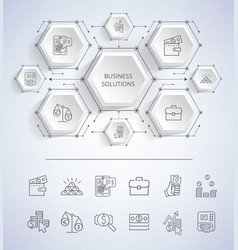 business solutions infographic vector image