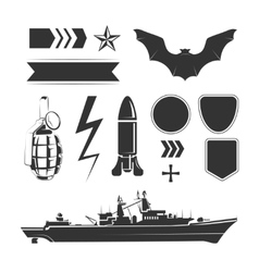 elements for army airforce and navy vector image