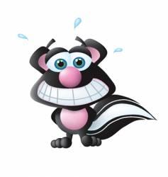 embarrassed skunk vector image