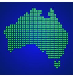 Pixel map of Australia vector image vector image