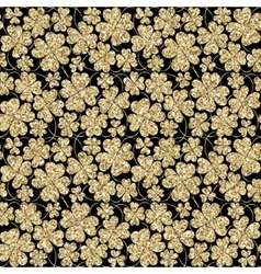 Trendy glitter gold and black seamless vector image