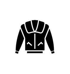 jacket icon black sign on vector image