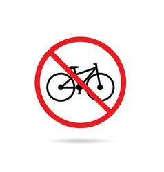 bicycle sign in red color vector image vector image