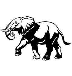 elephant black white vector image vector image