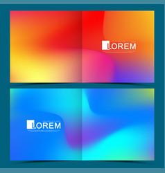 modern template for square brochure leaflet vector image