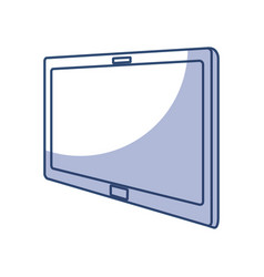 shadow tablet cartoon vector image