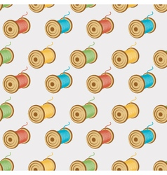 spools of threads seamless pattern vector image