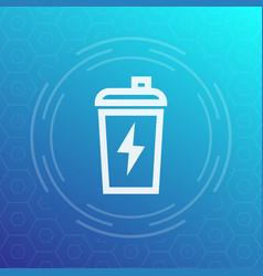 sport shaker line icon vector image