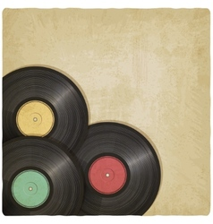 vinyl record old background vector image vector image