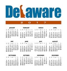 2017 Delaware calendar vector image